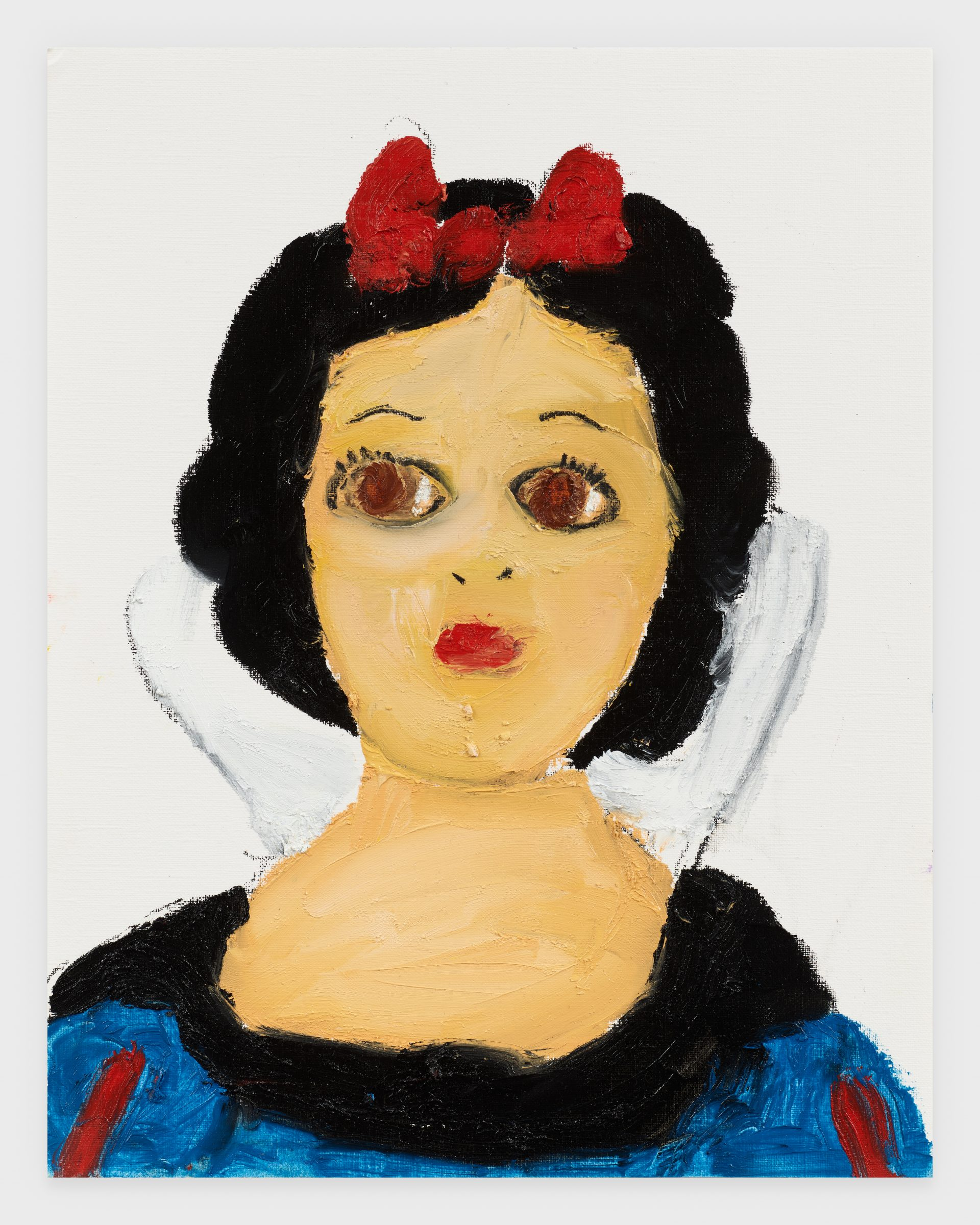 Snow White, 2020, Oil stick on archival paper, 11 x 14 inches