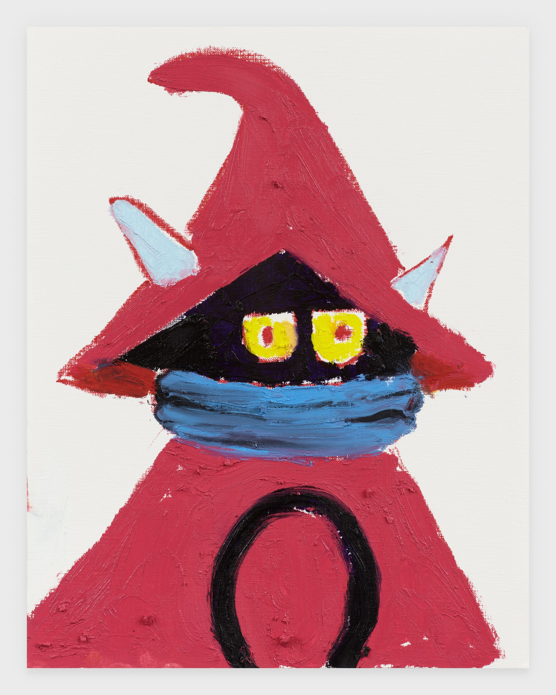 Orko, 2020, Oil stick on archival paper, 11 x 14 inches