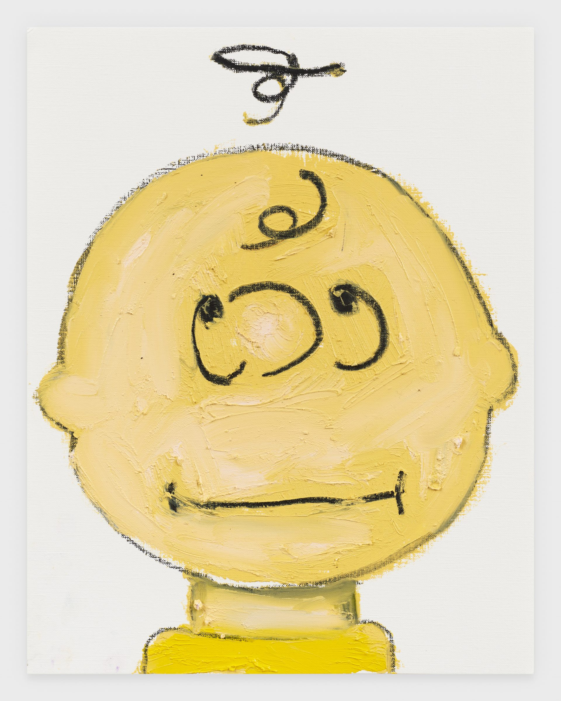 Charlie Brown, 2020, Oil stick on archival paper, 11 x 14 inches