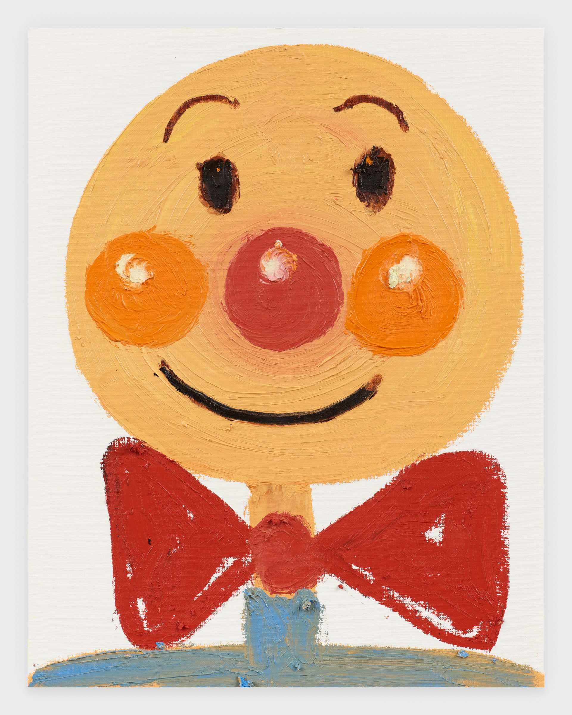 Anpanman, 2020, Oil stick on archival paper, 11 x 14 inches
