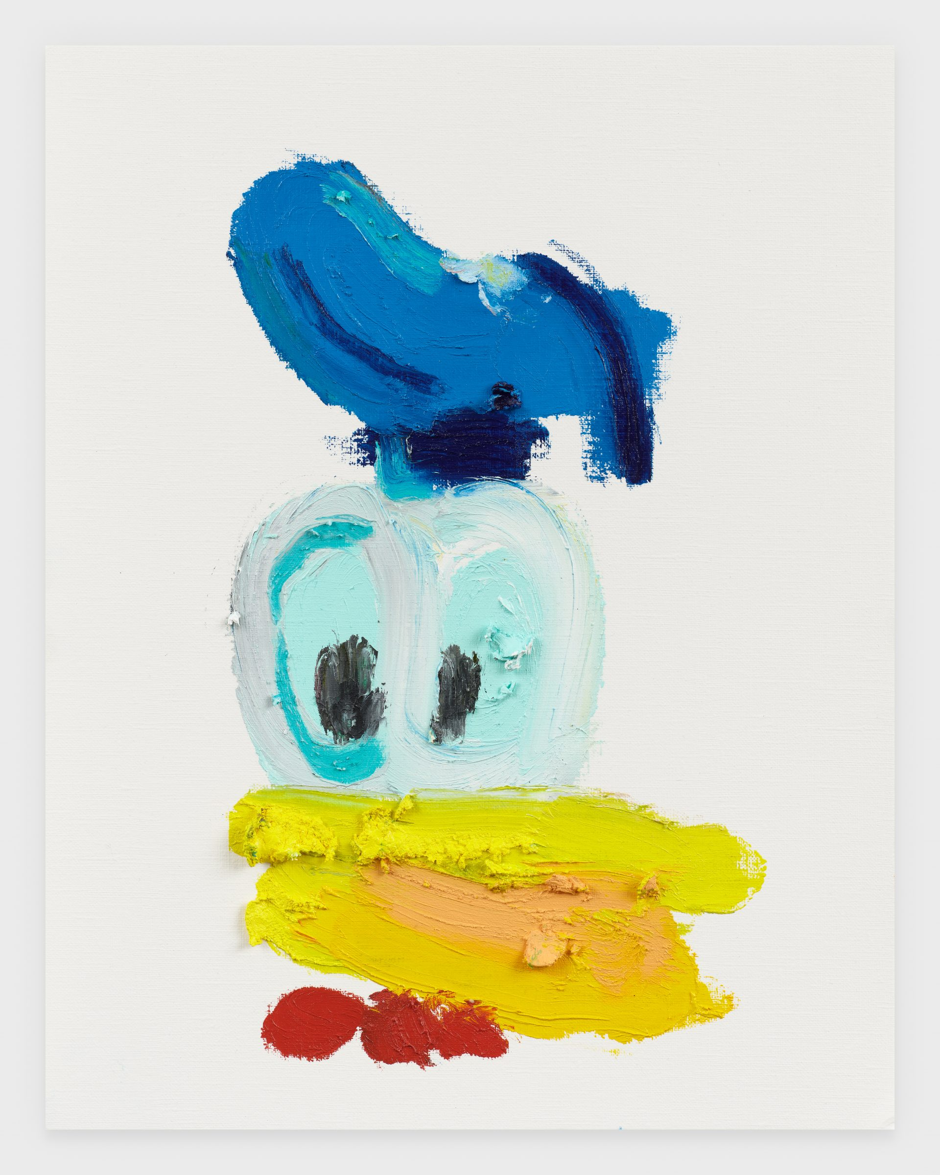 Donal Duck II, 2020, Oil stick on archival paper, 11 x 14 inches