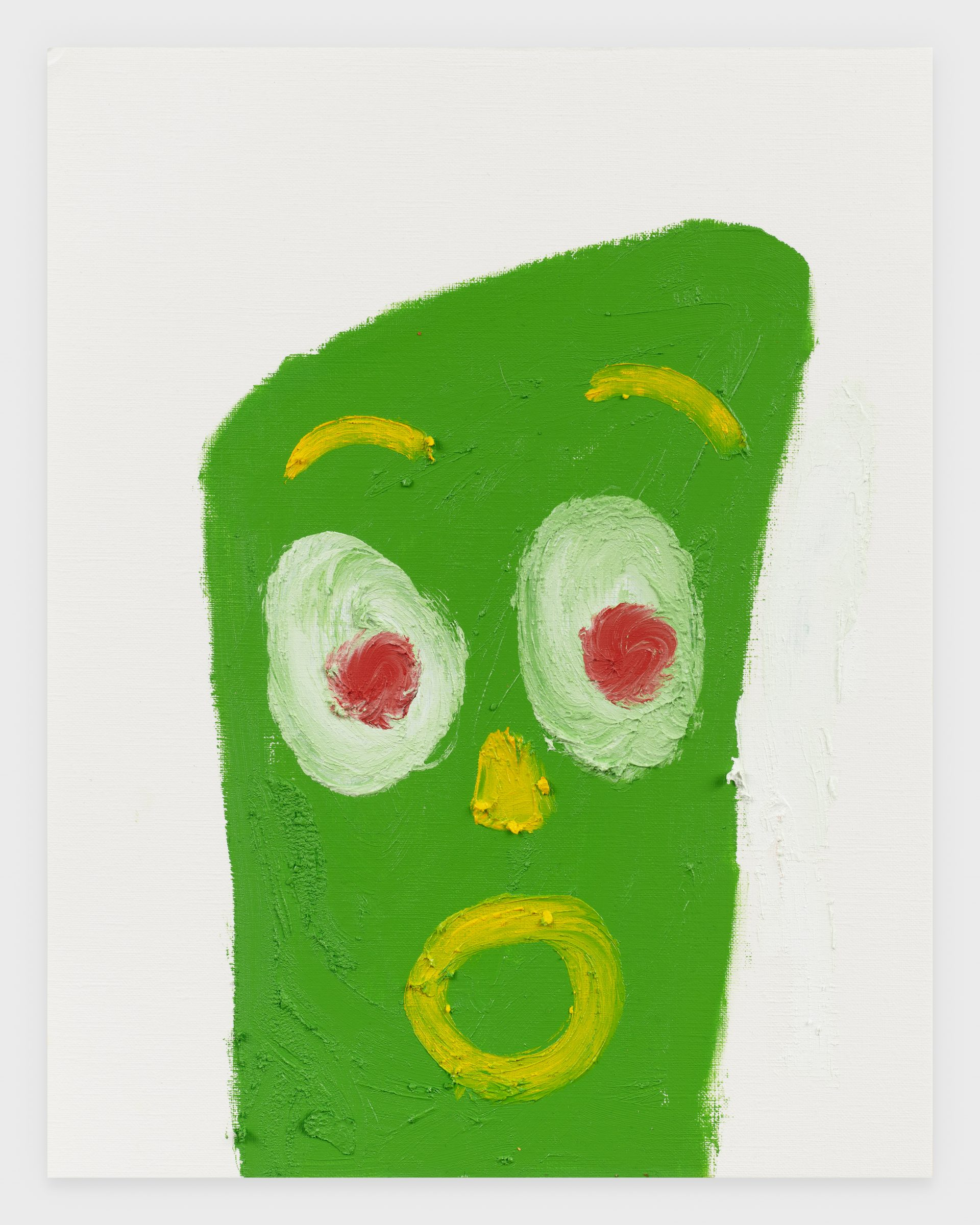 Gumby, 2020, Oil stick on archival paper, 11 x 14 inches