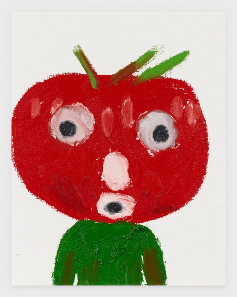 Tomato Head, 2020, Oil stick on archival paper, 11 x 14 inches