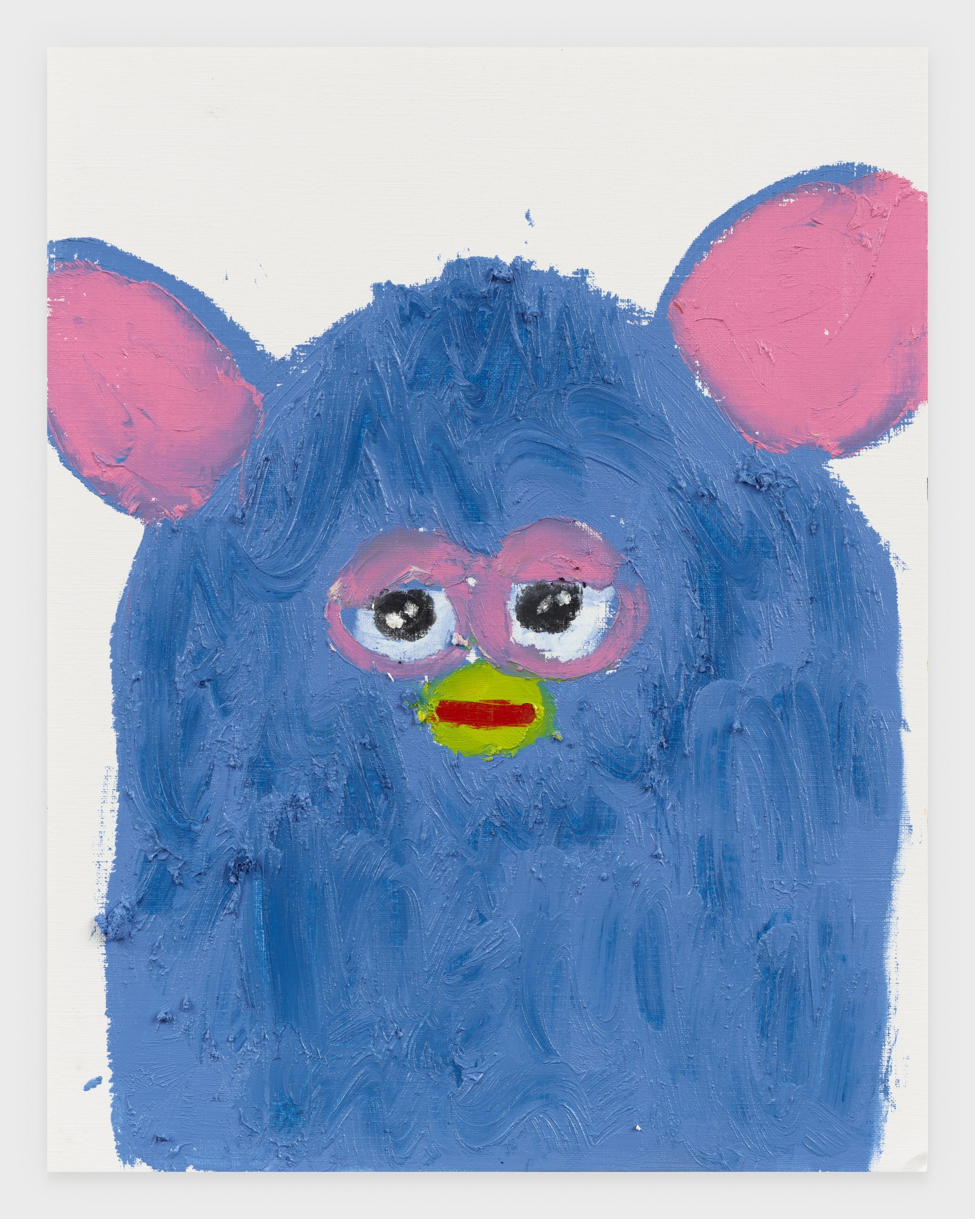 Furby Blue, 2020, Oil stick on archival paper, 11 x 14 inches