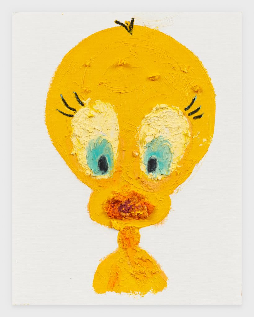 Tweety, 2020, Oil stick on archival paper, 11 x 14 inches