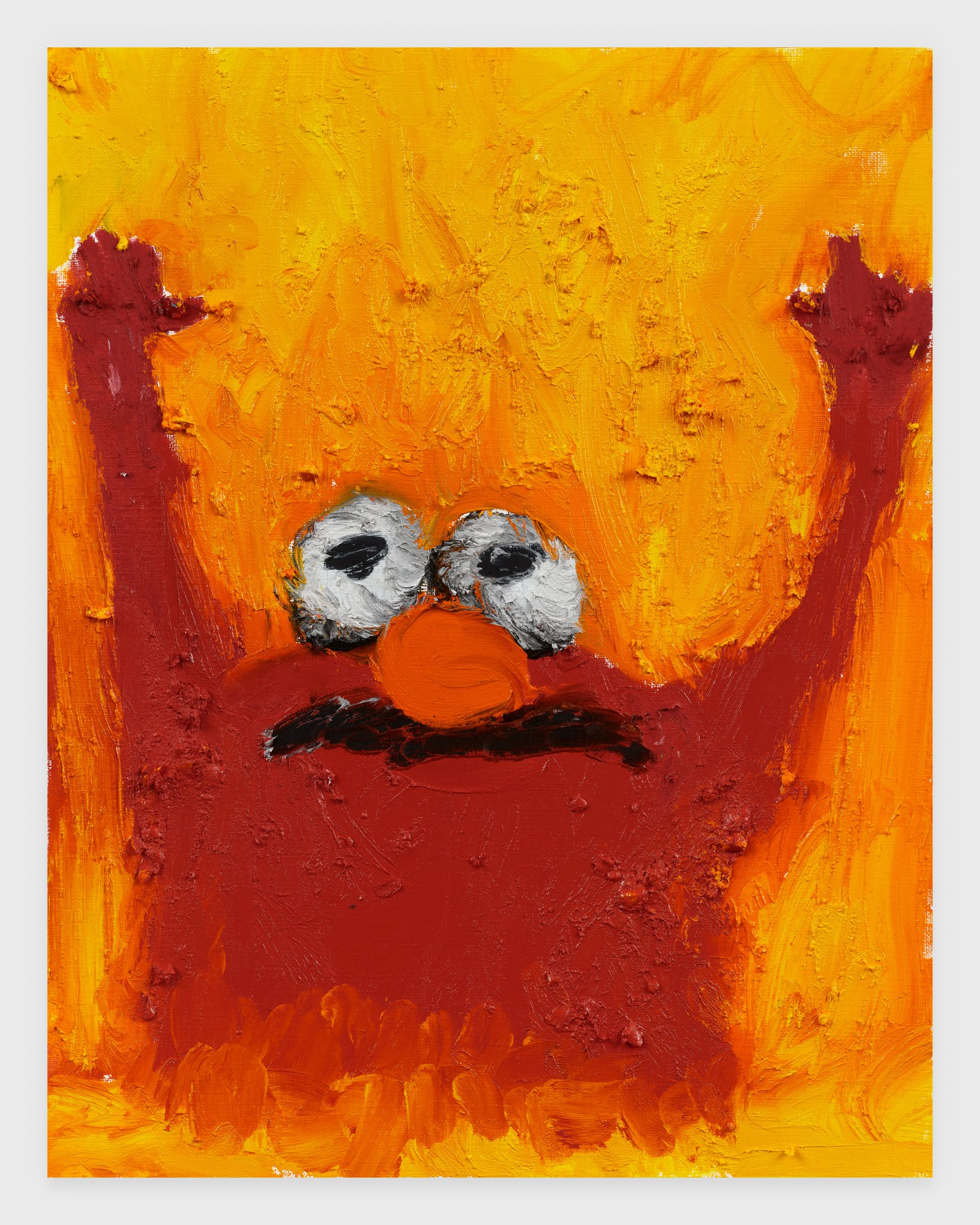 Elmo, 2020, Oil stick on archival paper, 11 x 14 inches