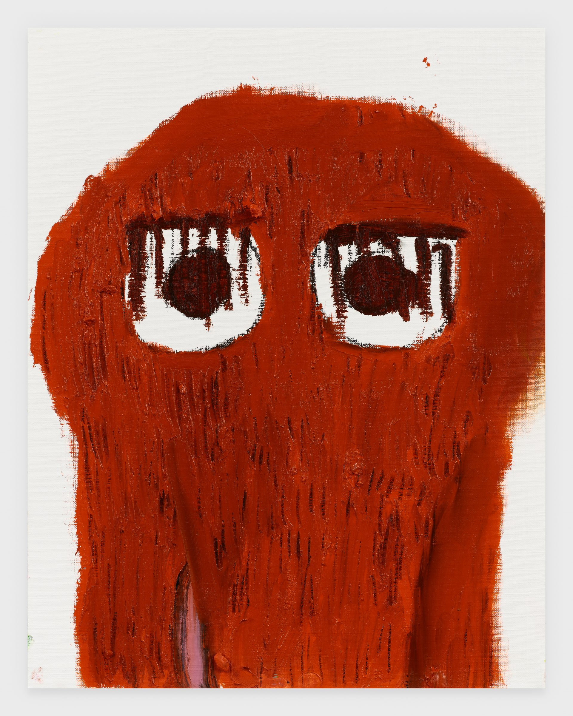 Mr. Snuffleupagus, 2020, Oil stick on archival paper, 11 x 14 inches