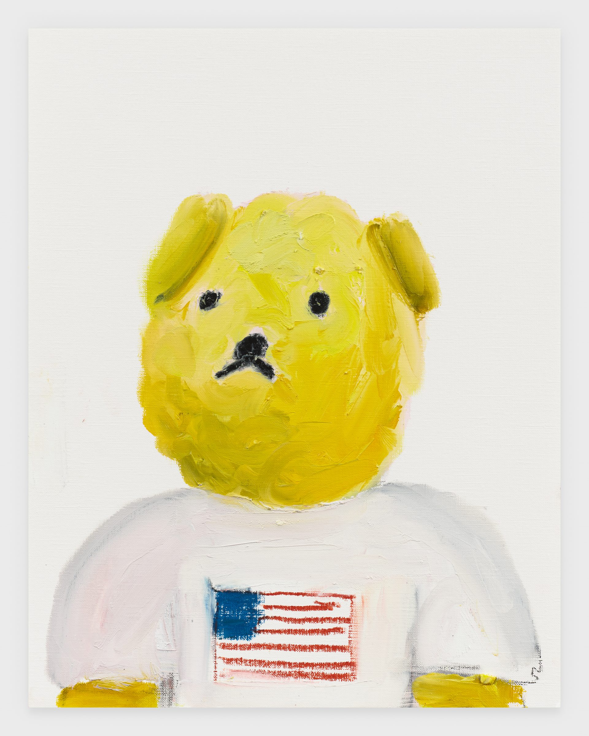 Polo Bear, 2020, Oil stick on archival paper, 11 x 14 inches