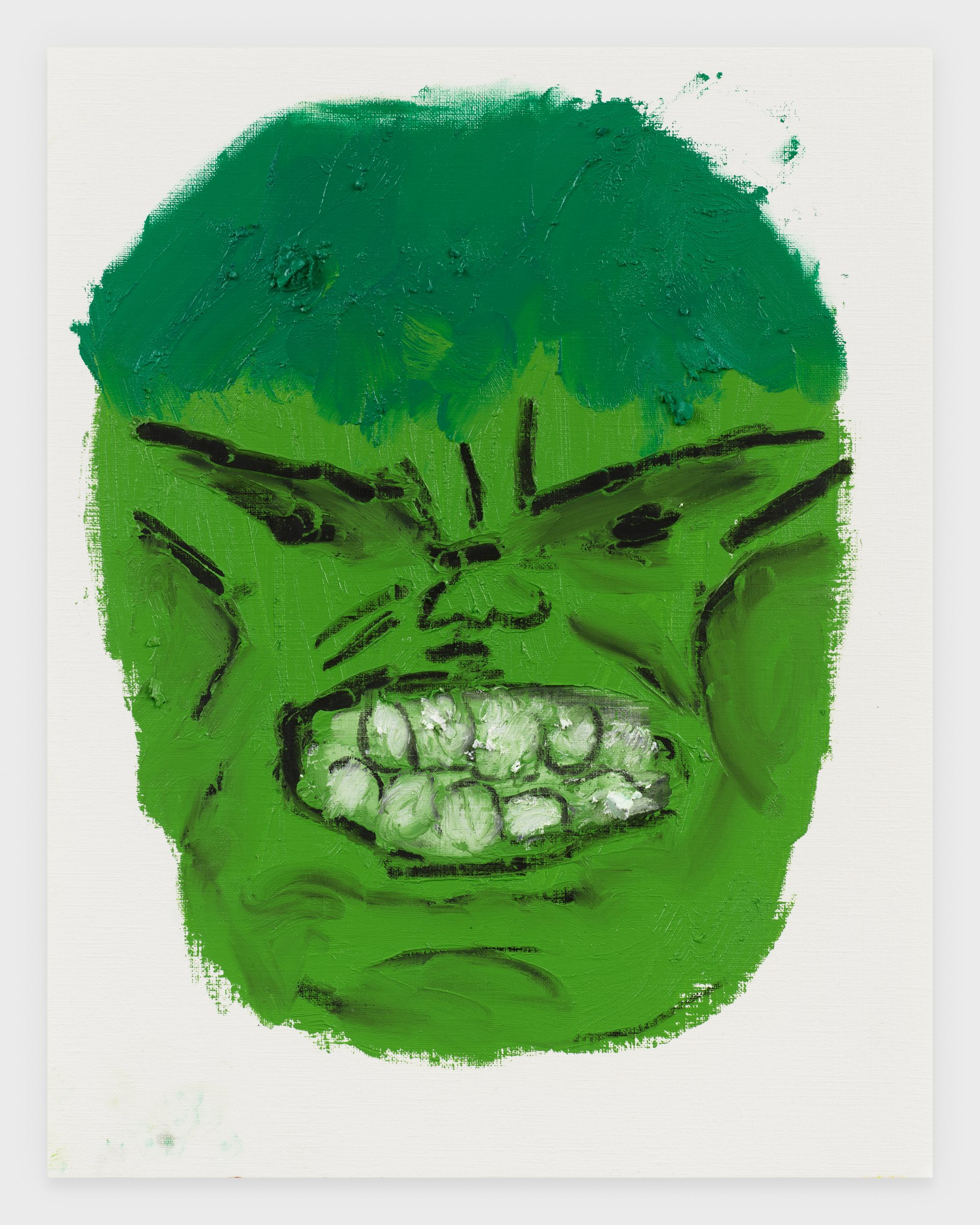 Incredible Hulk, 2020, Oil stick on archival paper, 11 x 14 inches