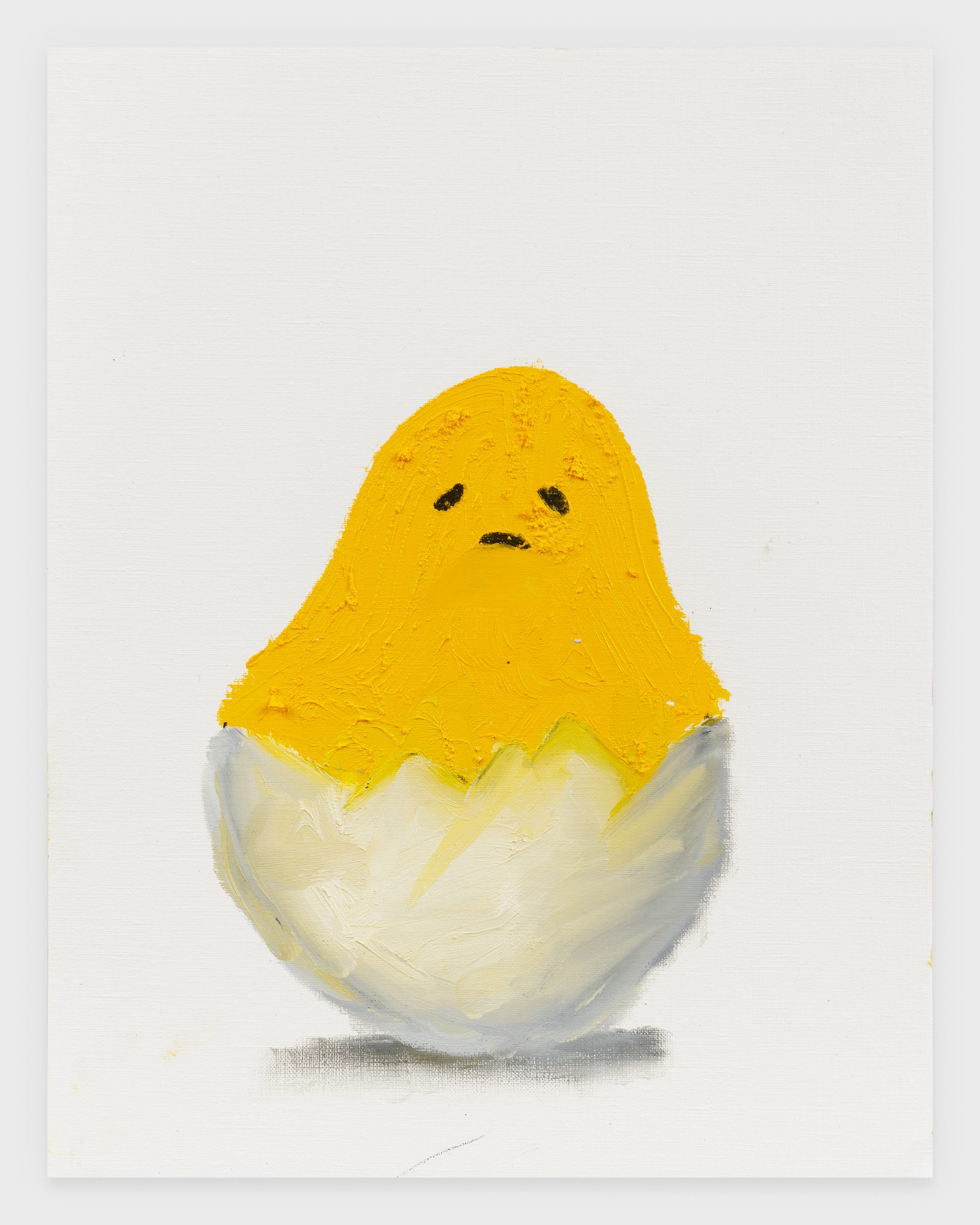 Gudetama, 2020, Oil stick on archival paper, 11 x 14 inches