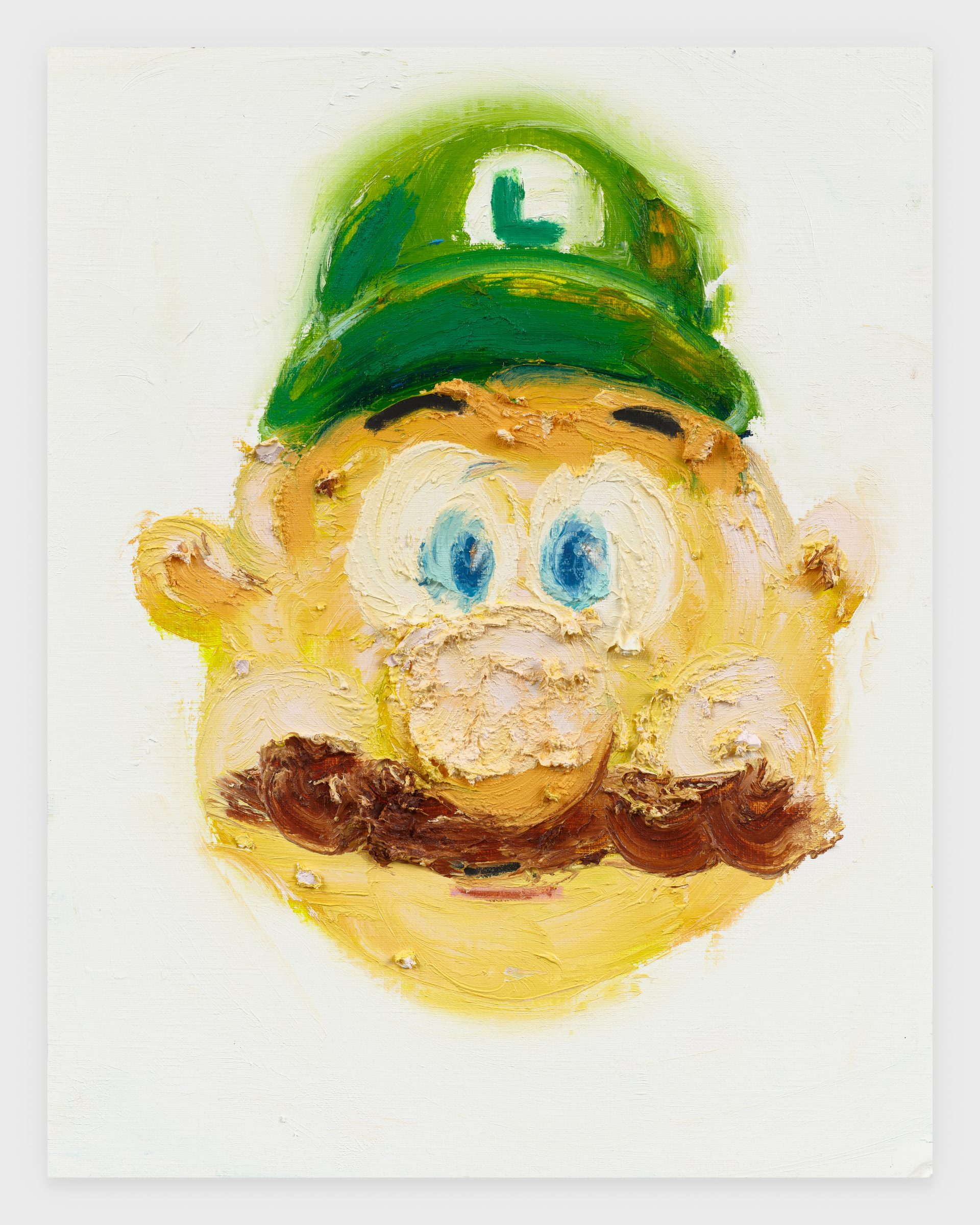 Luigi, 2020, Oil stick on archival paper, 11 x 14 inches