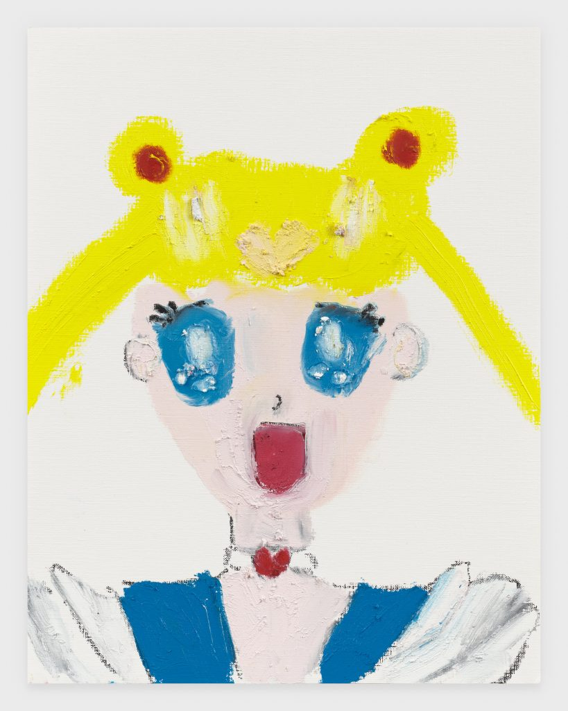 Sailor Moon, 2020, Oil stick on archival paper, 11 x 14 inches