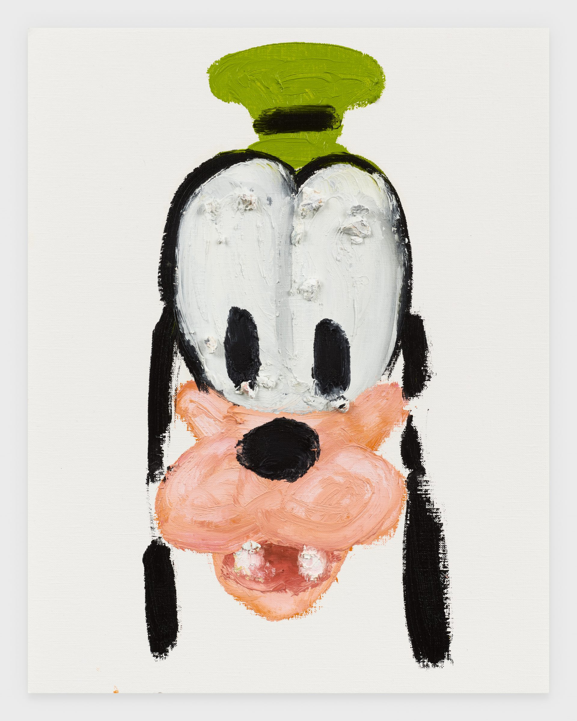 Goofy, 2020, Oil stick on archival paper, 11 x 14 inches