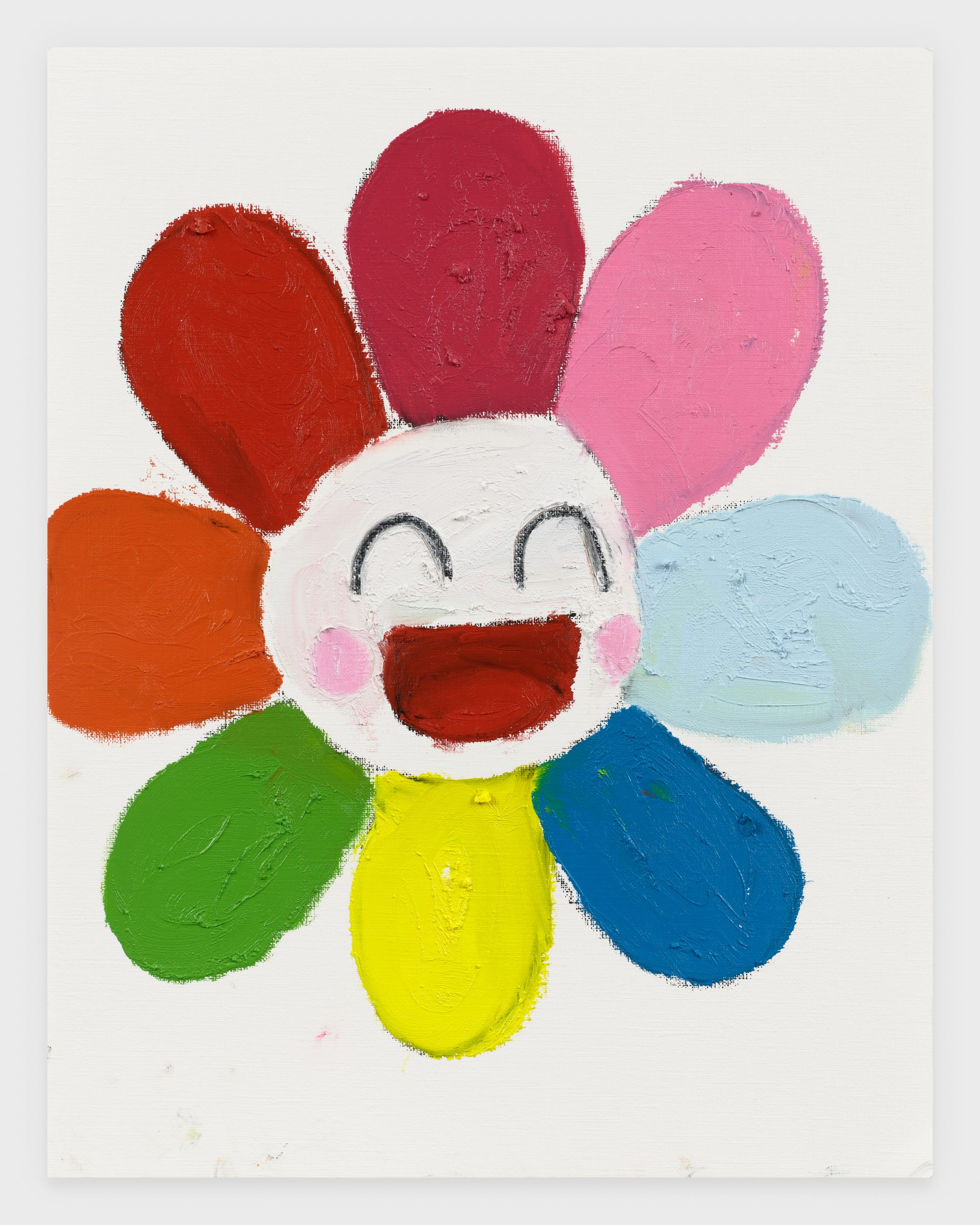 Murakami Flower, 2020, Oil stick on archival paper, 11 x 14 inches