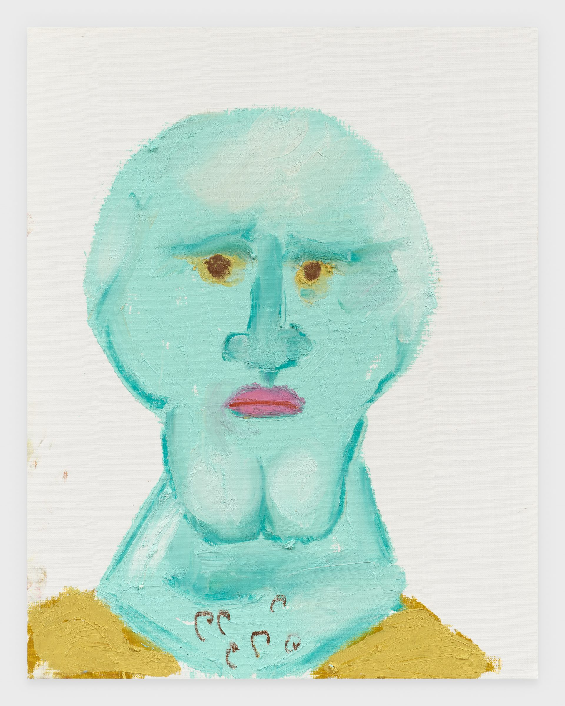 Handsome Squidward, 2020, Oil stick on archival paper, 11 x 14 inches