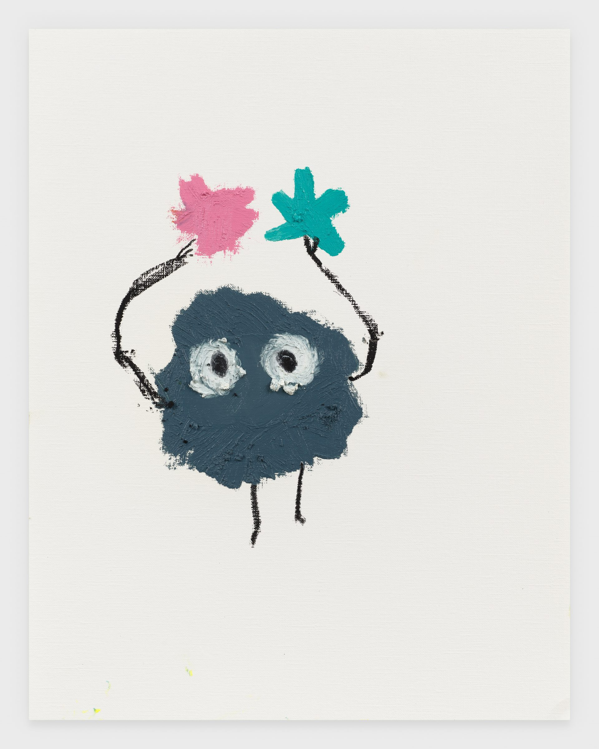 Soot Sprite, 2020, Oil stick on archival paper, 11 x 14 inches