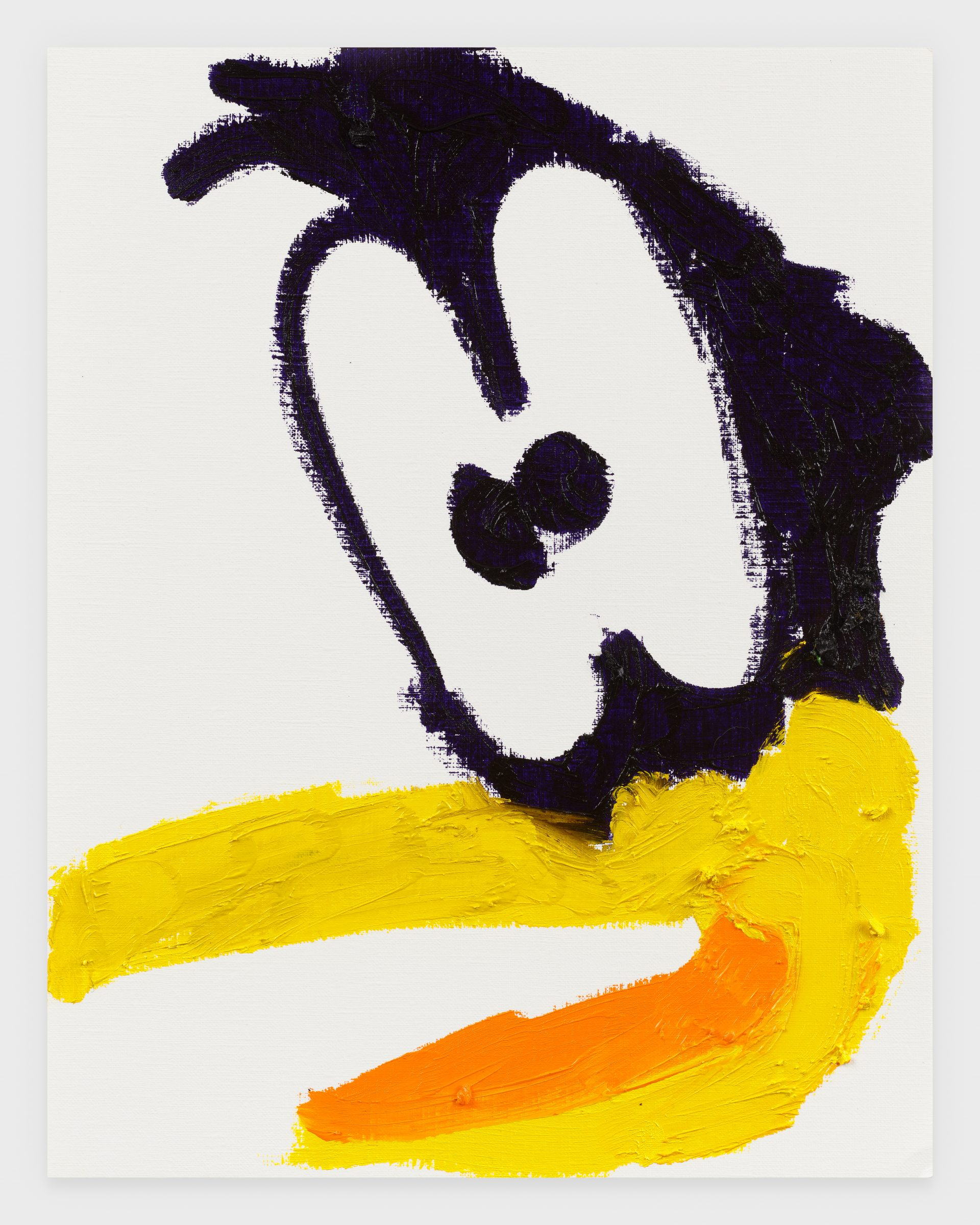 Daffy, 2020, Oil stick on archival paper, 11 x 14 inches