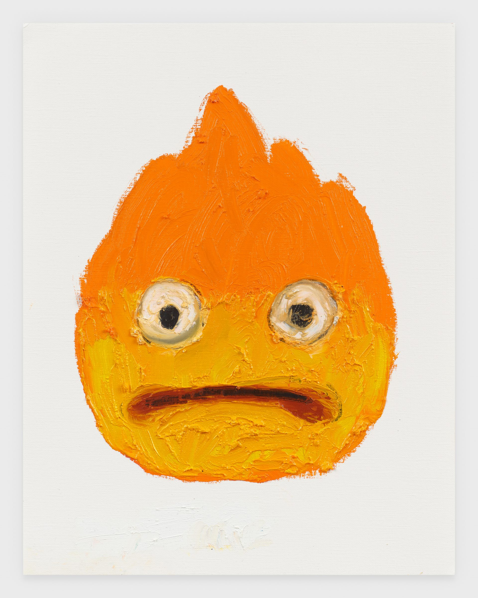 Calcifer, 2020, Oil stick on archival paper, 11 x 14 inches