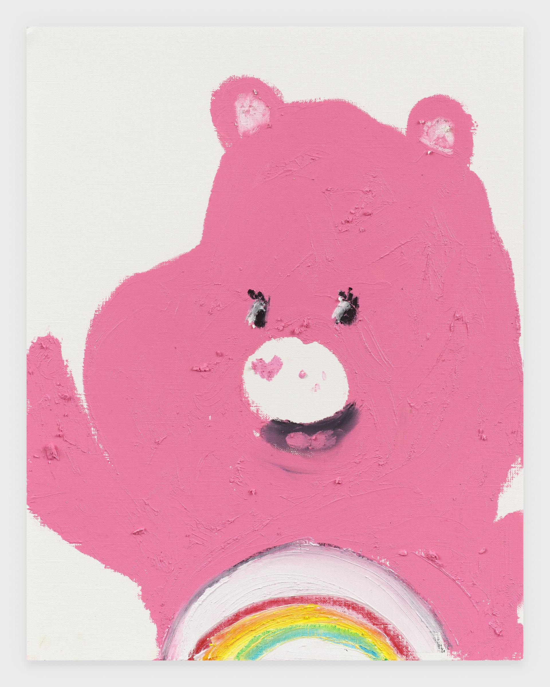 Care Bear (Cheer Bear), 2020, Oil stick on archival paper, 11 x 14 inches