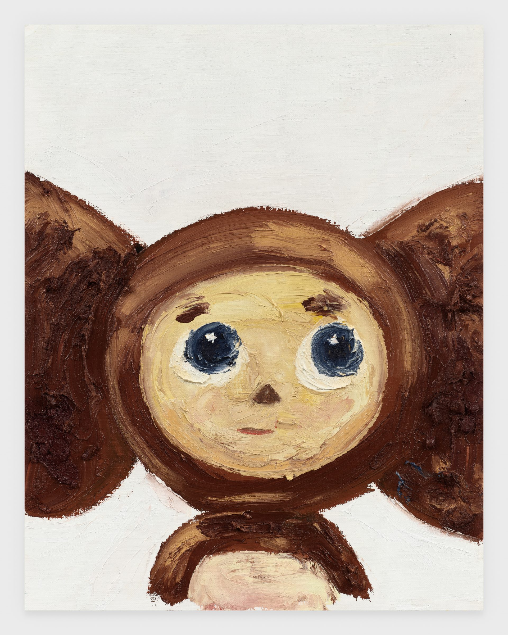 Cheburashka, 2020, Oil stick on archival paper, 11 x 14 inches