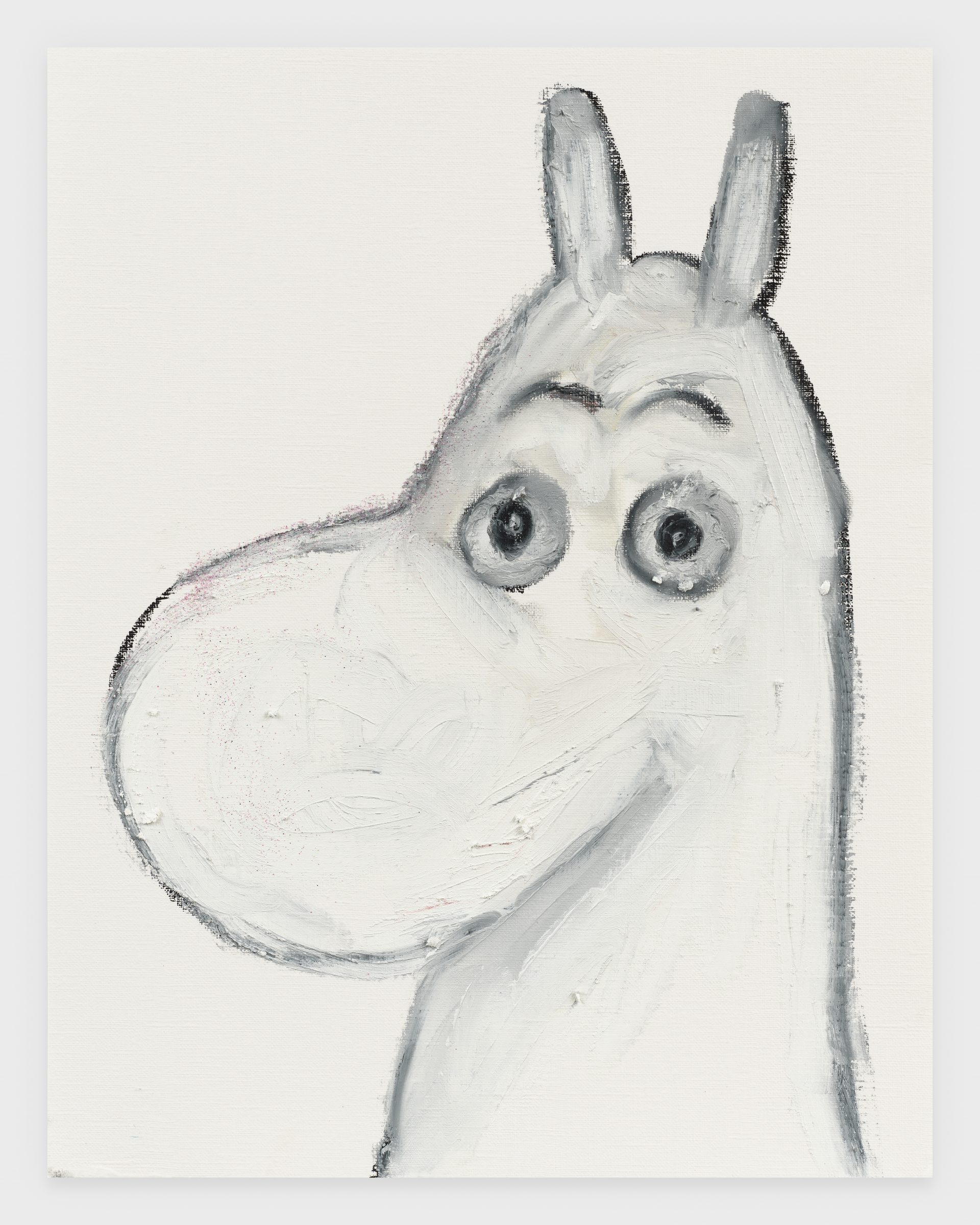 Moomin, 2020, Oil stick on archival paper, 11 x 14 inches