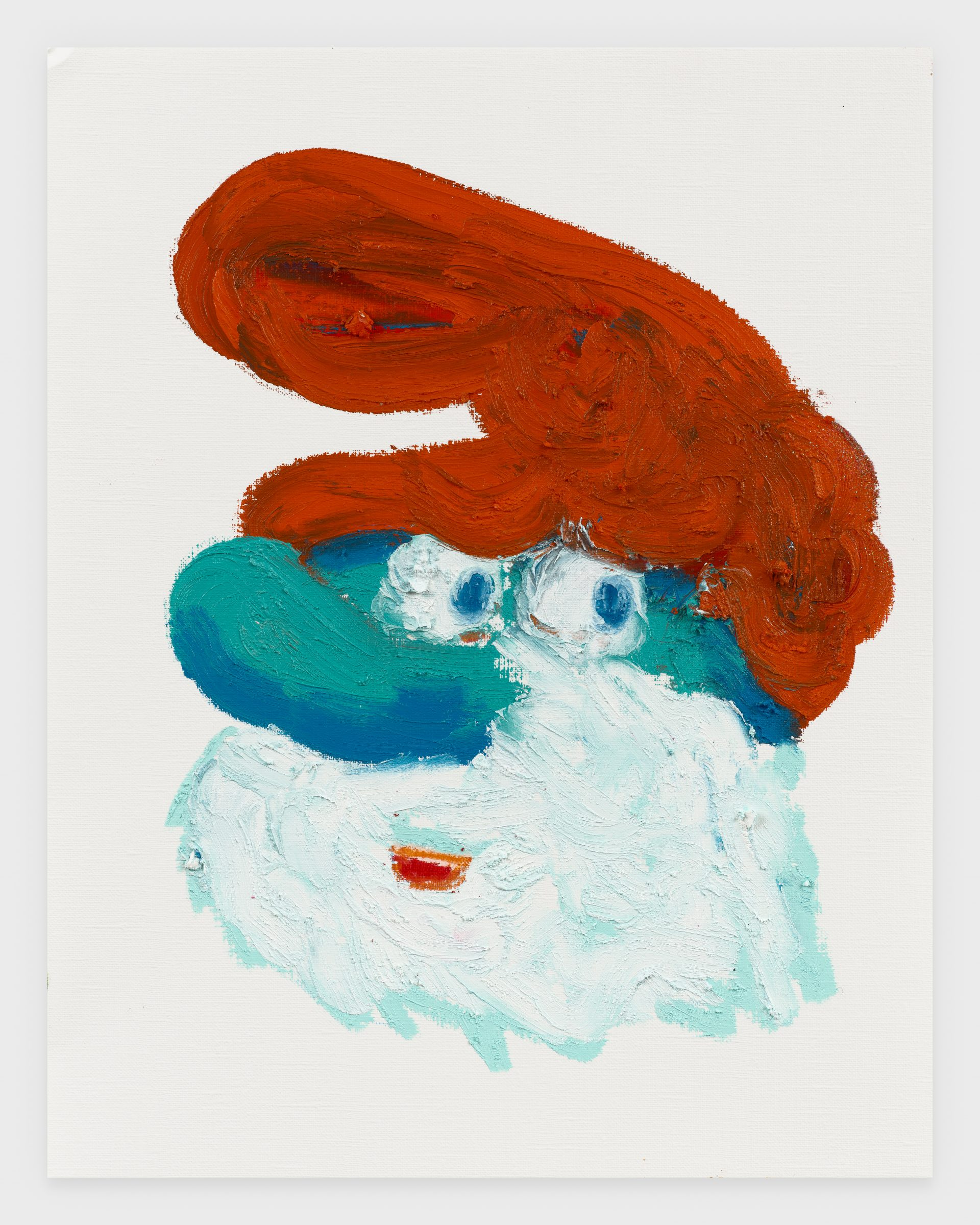 Papa Smurf, 2020, Oil stick on archival paper, 11 x 14 inches