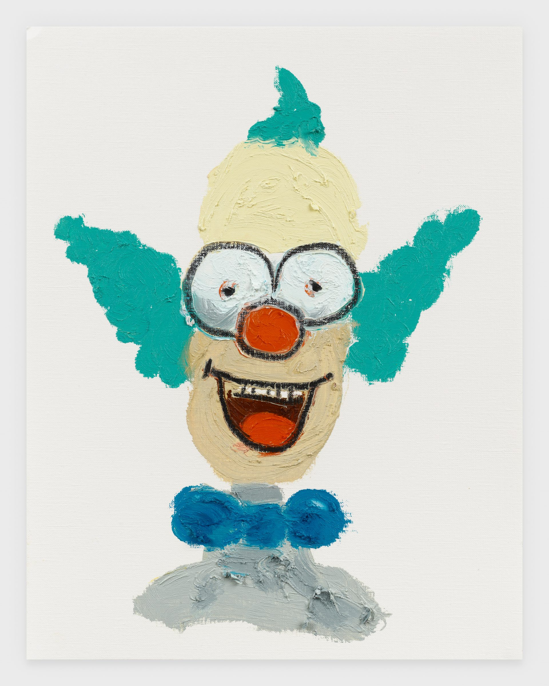 Krusty, 2020, Oil stick on archival paper, 11 x 14 inches