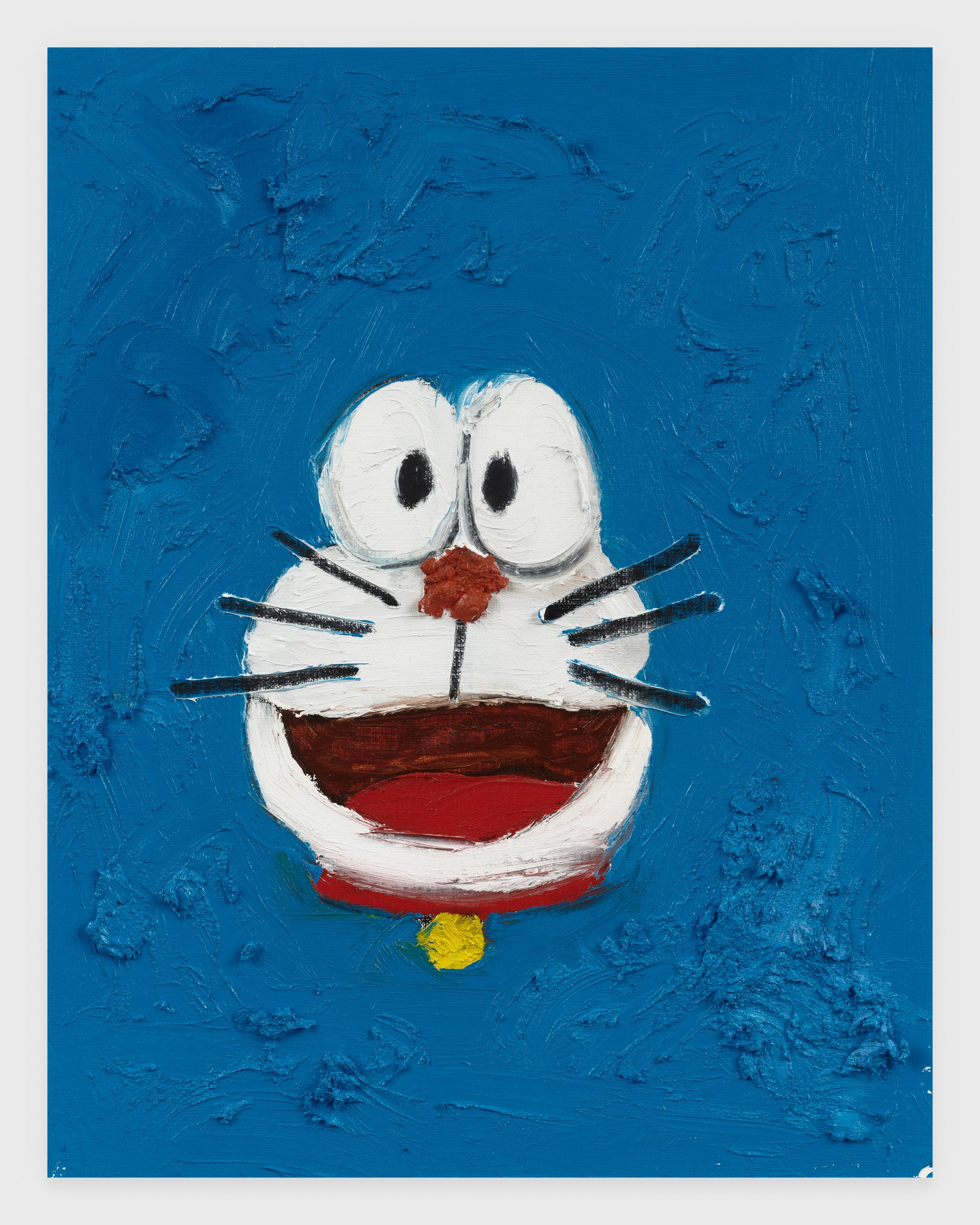 Doraemon, 2020, Oil stick on archival paper, 11 x 14 inches