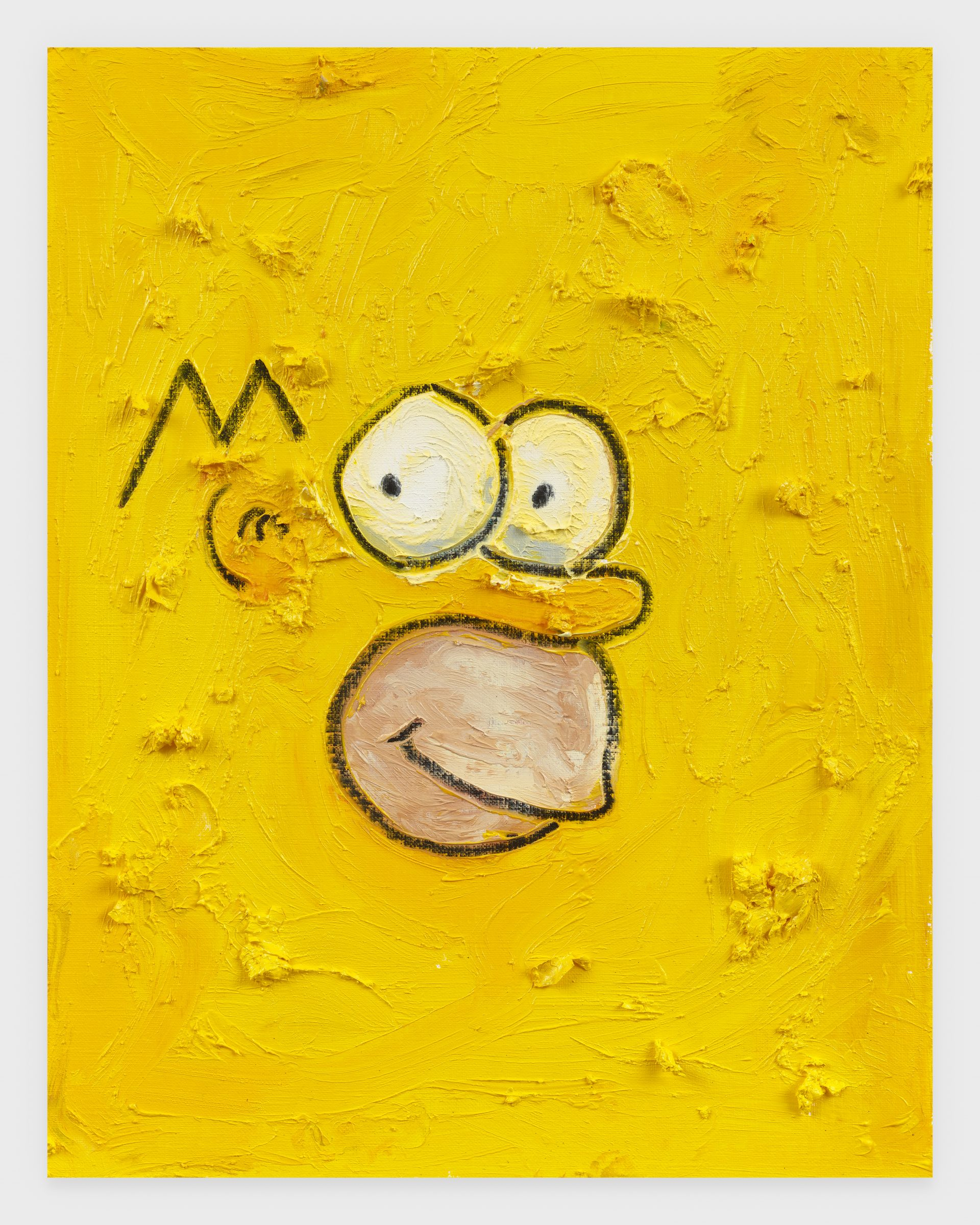 Homer, 2020, Oil stick on archival paper, 11 x 14 inches
