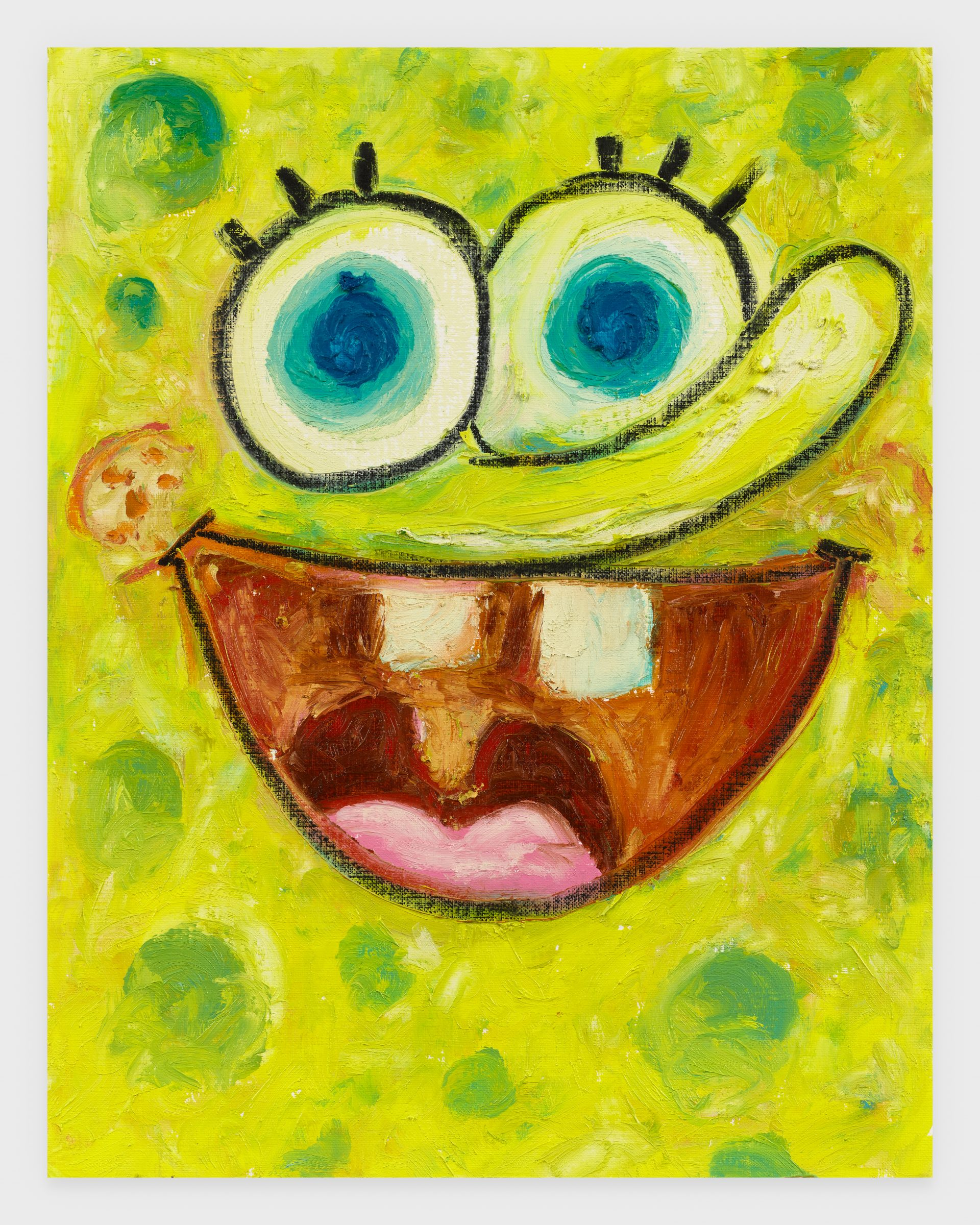 Spongebob, 2020, Oil stick on archival paper, 11 x 14 inches