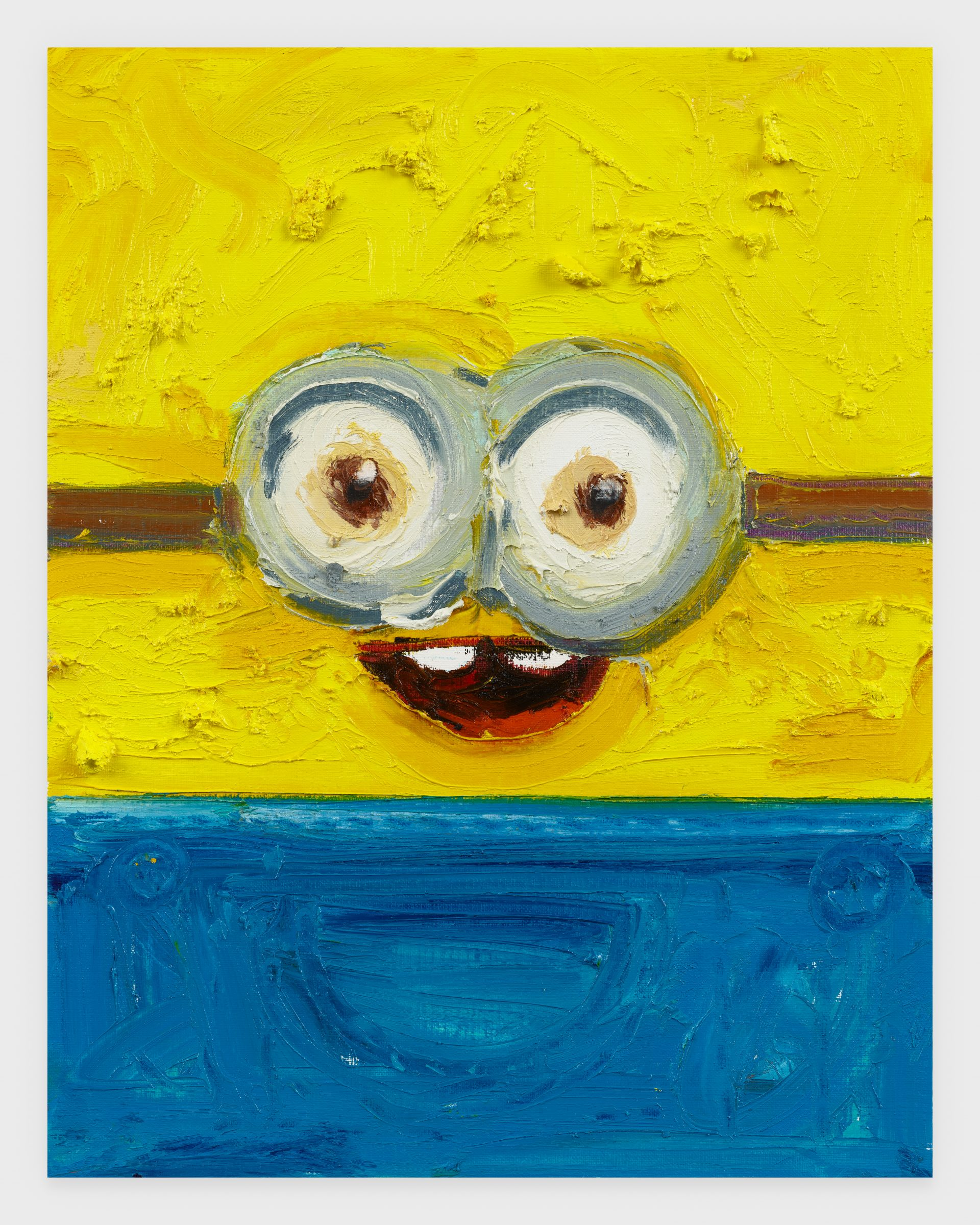 Minion, 2020, Oil stick on archival paper, 11 x 14 inches