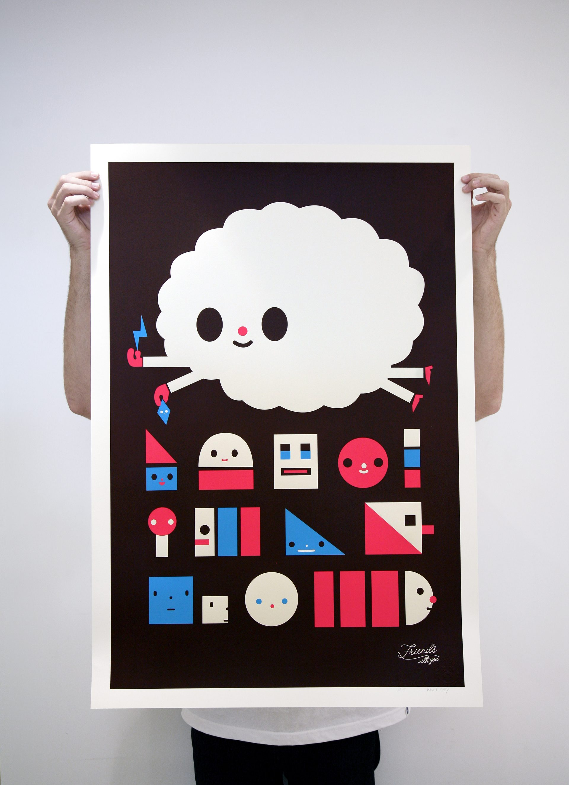"""""""Cloudy King"""" Edition of 100 Size: 25 x 37 inches Printed on Mohawk Via Vellum, 100lbs cover weight paper"""
