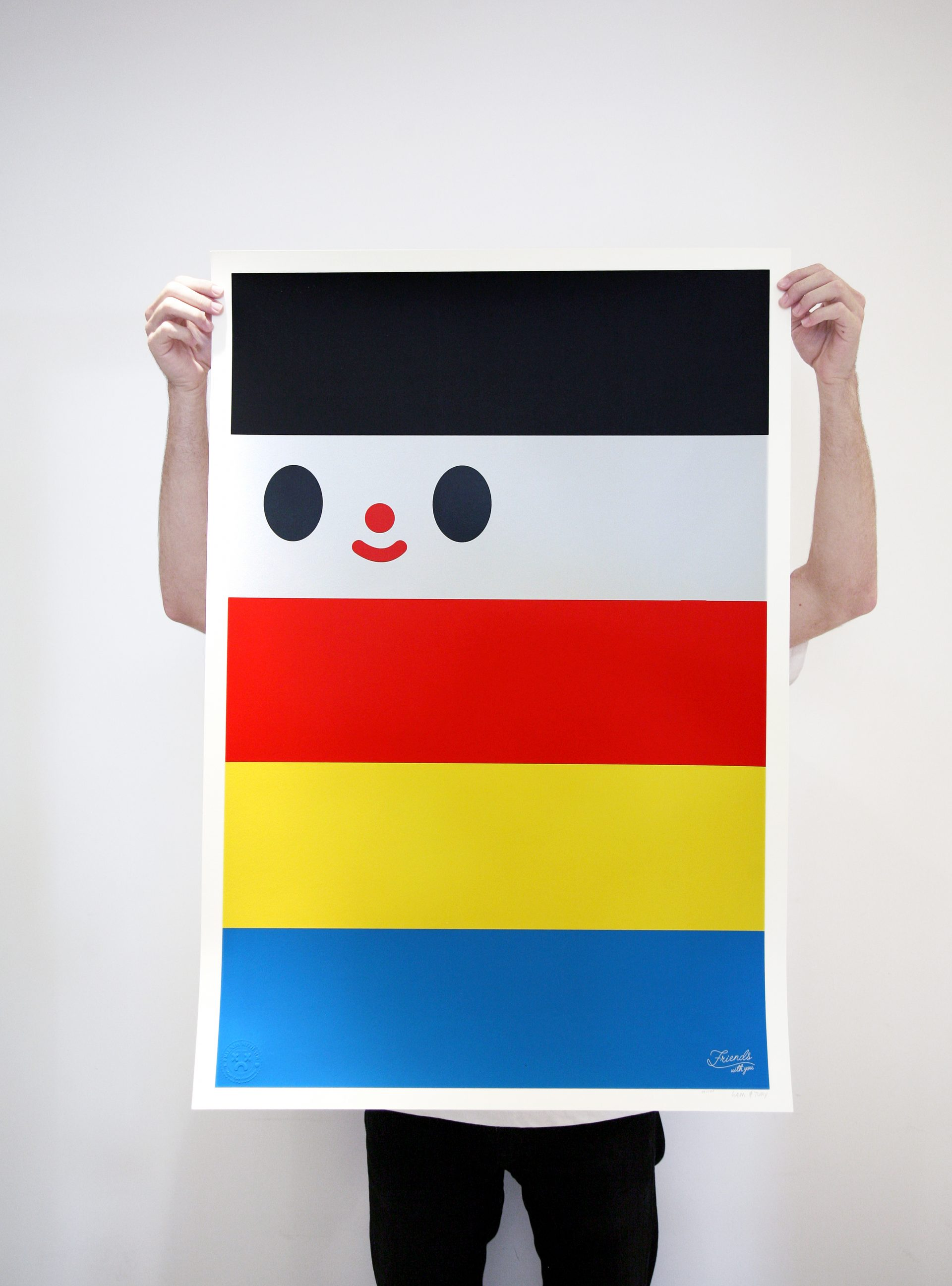 """""""Friendship Flag"""" Edition of 100 Size: 26 x 36 inches Printed on Mohawk Via Vellum, 100lbs cover weight paper"""