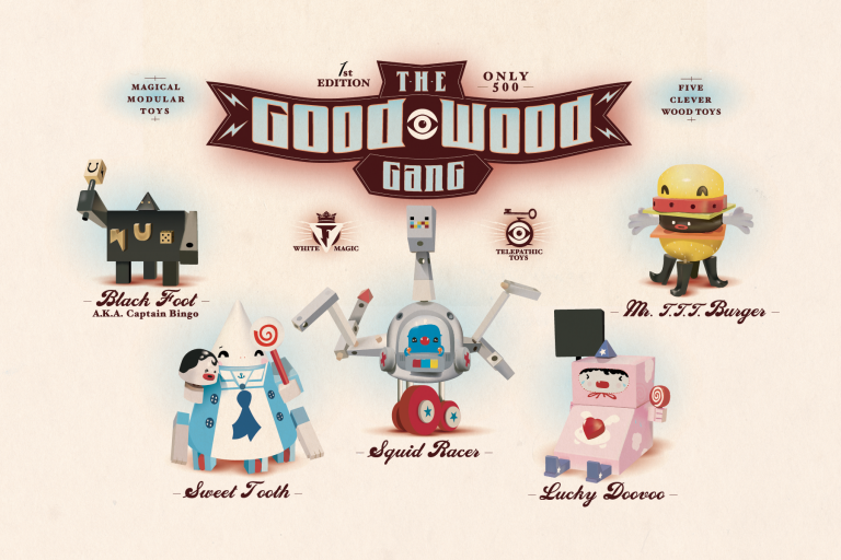 The Good Wood Gang FriendsWithYou Limited Edition Release, 2005