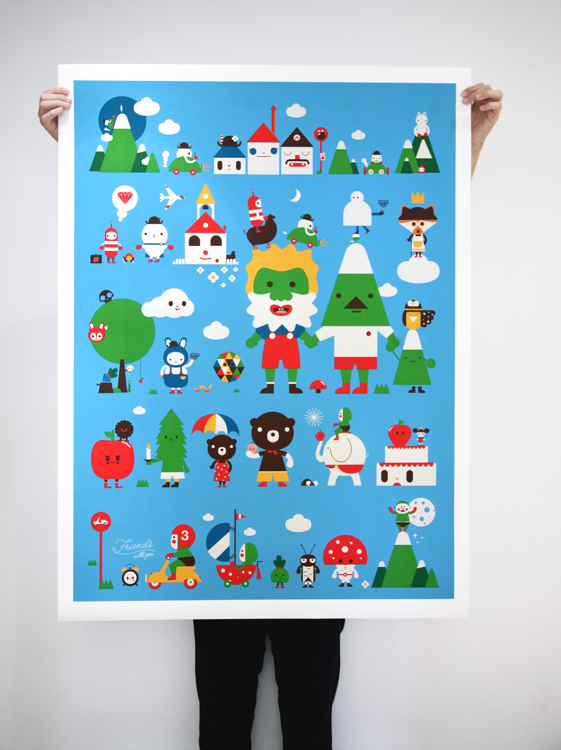 """""""Once Upon A Time"""" Edition of 50 Size: 38 x 50 inches Printed on Lenox100, 100% cotton paper, 250gsm"""