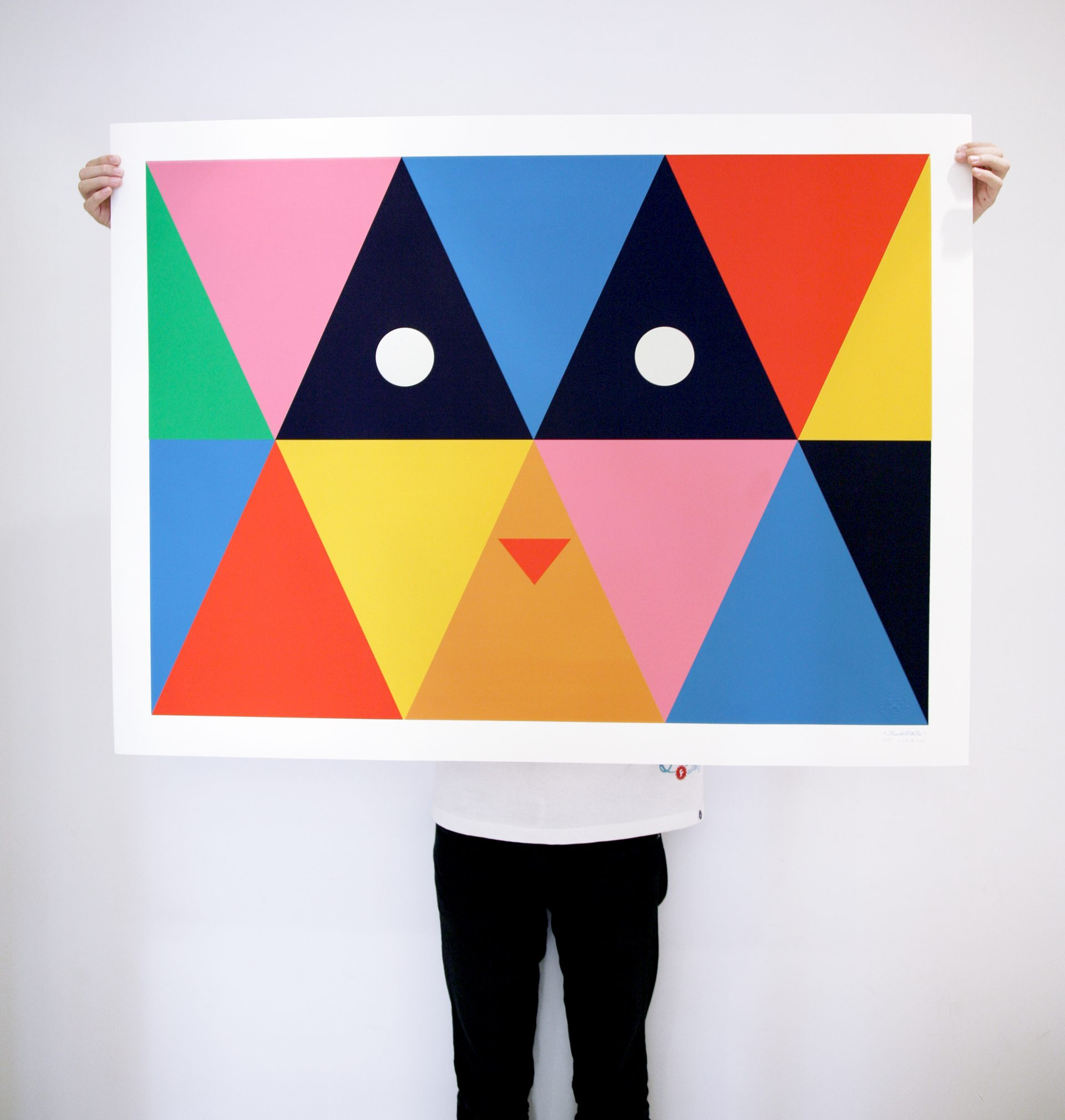 """""""Plasma Eyes"""" Edition of 50 Size: 38 x 50 inches Printed on Lenox100, 100% cotton paper, 250gsm"""