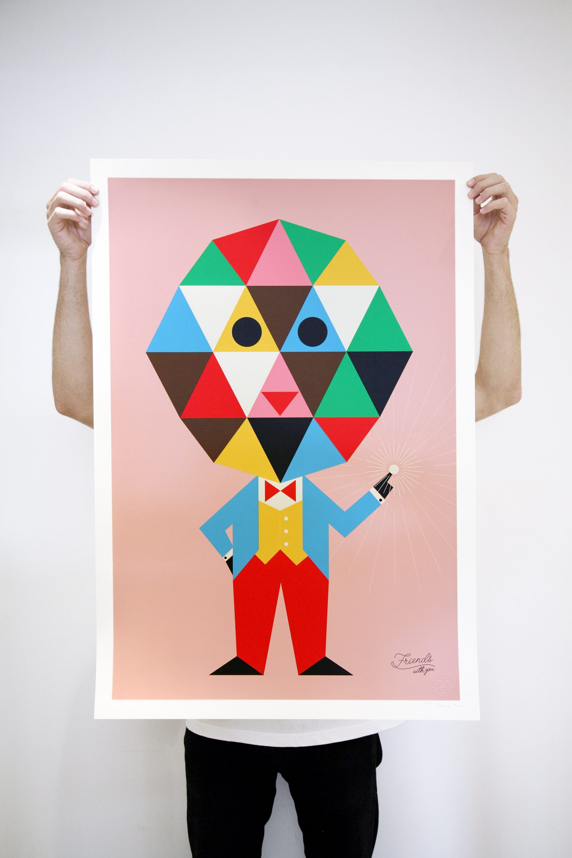 """""""Plasma Boy"""" Edition of 100 Size: 26 x 36 inches Printed on Mohawk Via Vellum, 100lbs cover weight paper"""