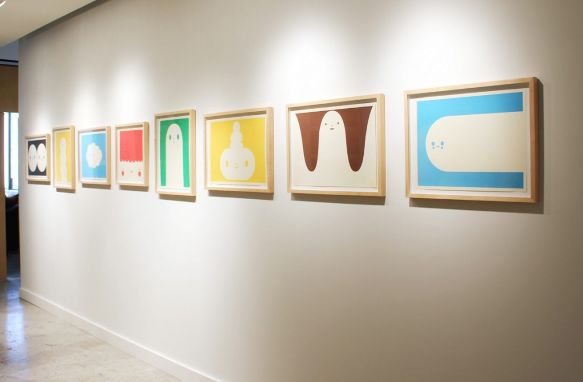 L to R: Two of a Kind - Rising Sun - Little Cloud - The Sleeper - Uprising - The Signal - Inside Out - Moving On, 8 print silkscreen edition of 100, 2010