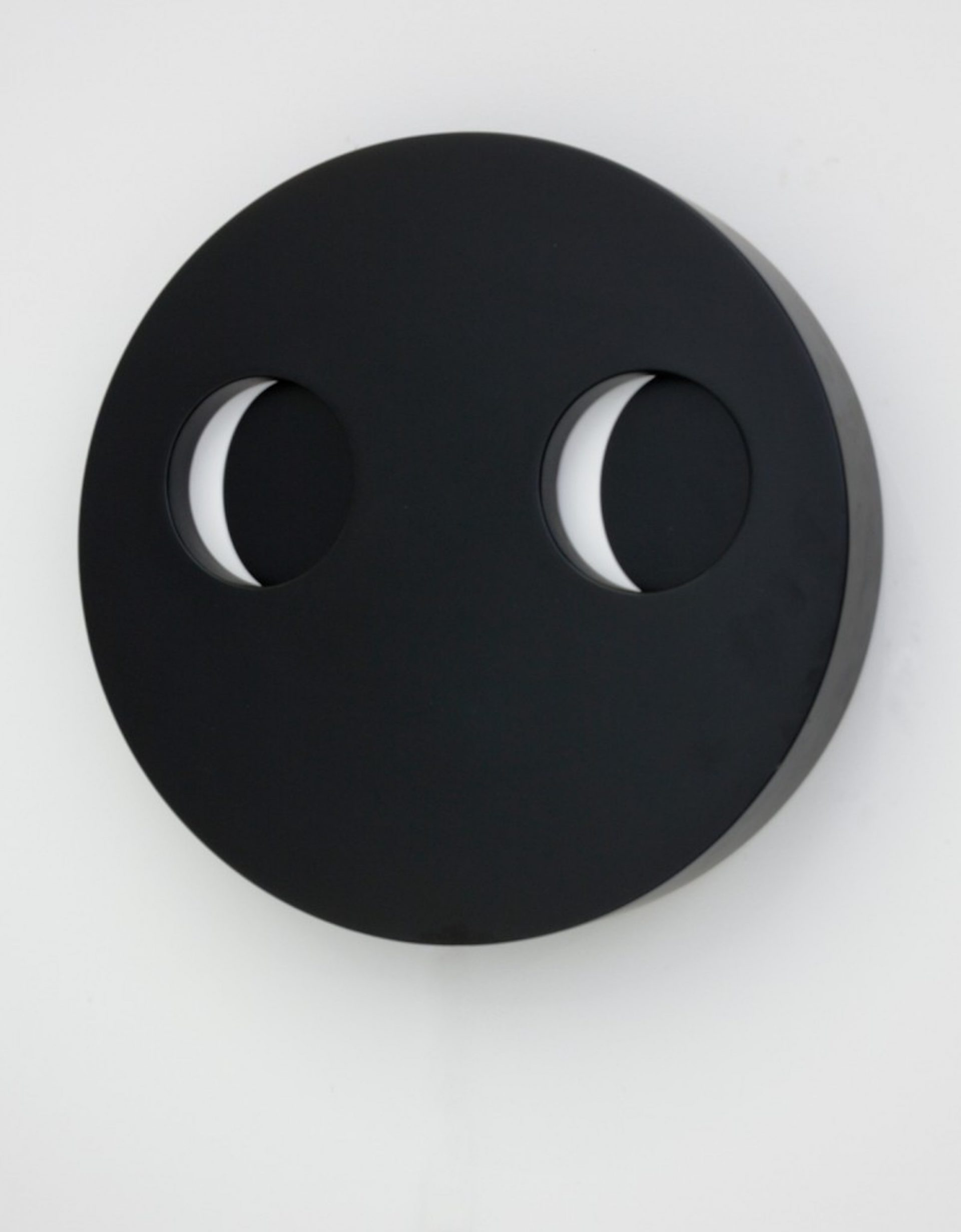 I See You - Lasercut MDF, car paint, acrylic, mechanical parts , 18 inches diameter 2011