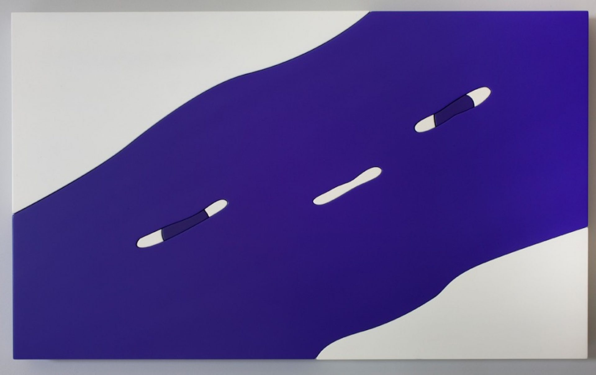 It's Never Enough - Lasercut MDF, car paint, acrylic, 25 inches x 42 inches, 2011