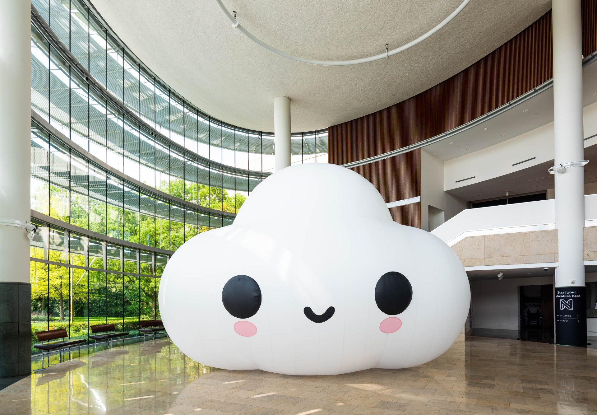 """Photo courtesy of Indianapolis Museum of Art at Newfields. """"Little Cloud"""", 2021, Commissioned by the Indianapolis Museum of Art at Newfields"""