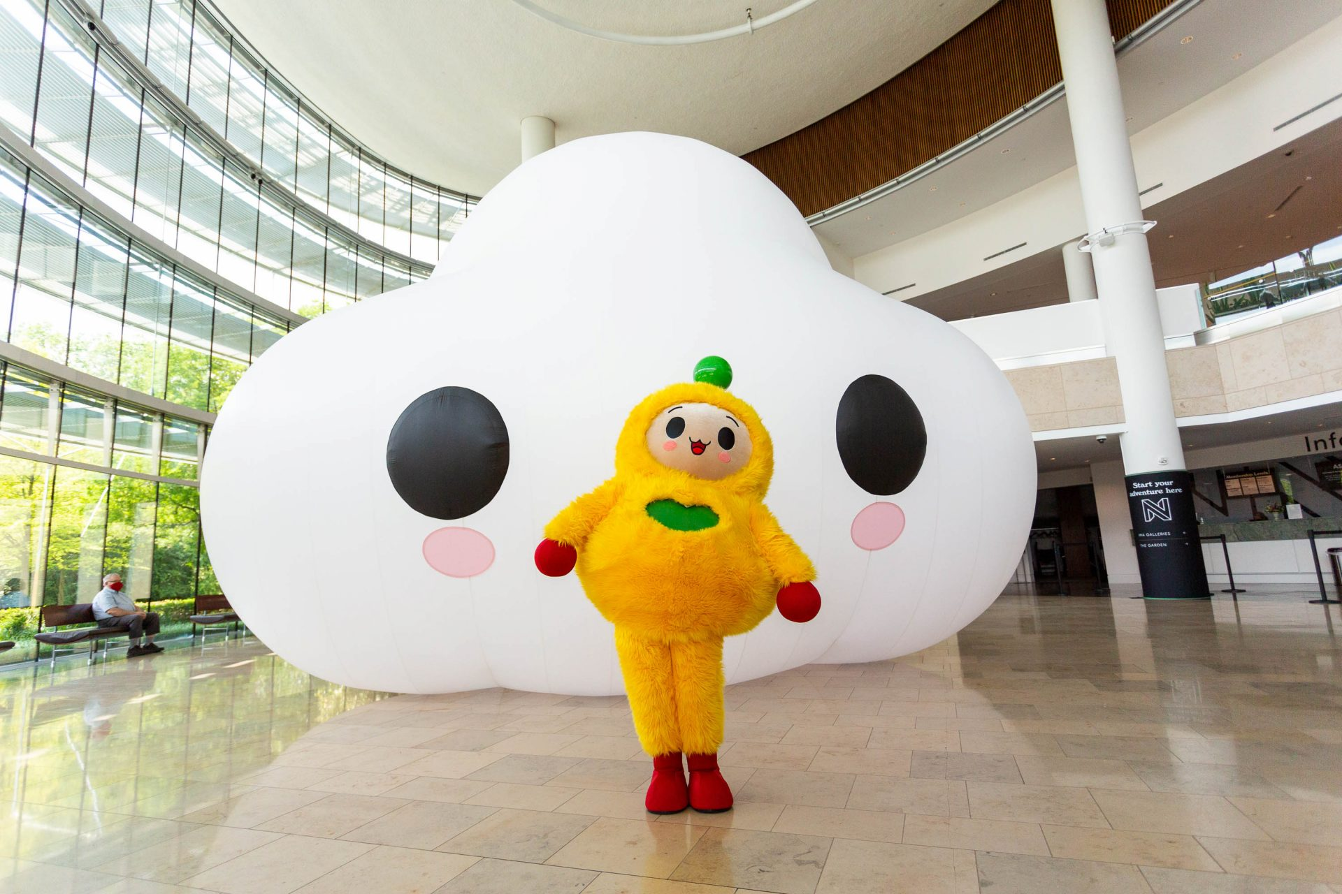 """Photo courtesy of Indianapolis Museum of Art at Newfields. """"Little Cloud"""" & """"Peanut Butter"""", 2021, Commissioned by the Indianapolis Museum of Art at Newfields"""
