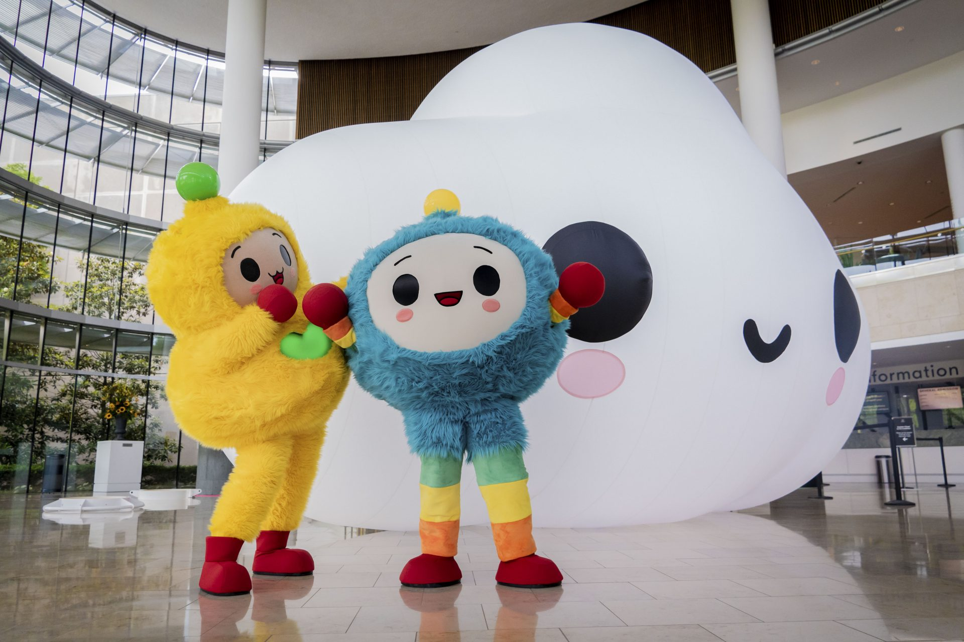 """""""Happy World – On a Cloud""""  at The Indianapolis Museum of Art Newfields"""